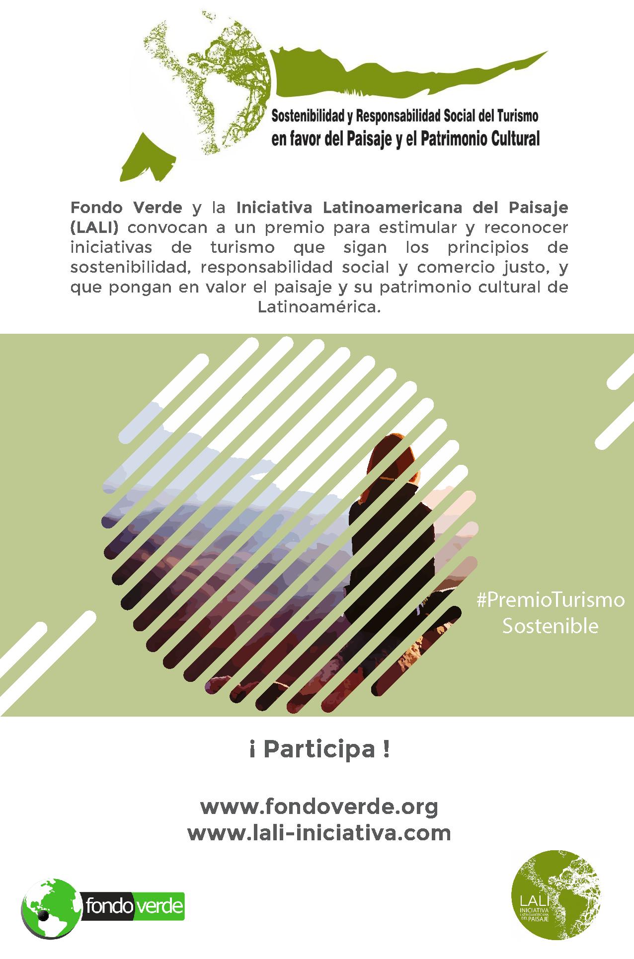 Afiche Premiando la sostenibilidad en favor del paisaje y del patrimonio cultural en Latinoamérica